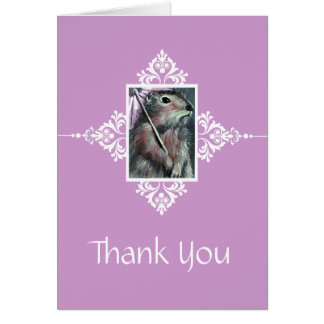 Gopher mit Sonnenschirm danken Ihnen zu kardieren Karte