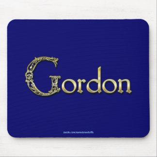 GORDON Name-Brannte personalisiertes Geschenk Mauspad