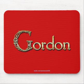 GORDON Name-Brannte personalisiertes Geschenk Mousepad