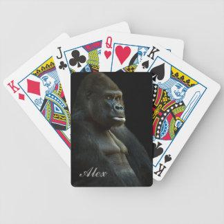 Gorilla-Foto Bicycle Spielkarten