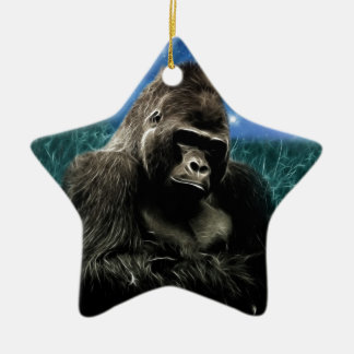 Gorilla in der Wiese Keramik Ornament