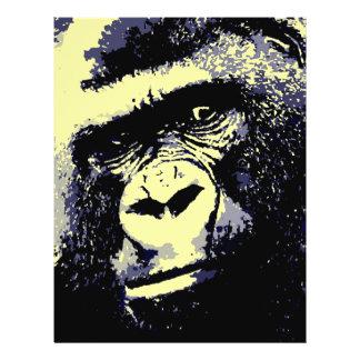 Gorilla-Porträt Flyer