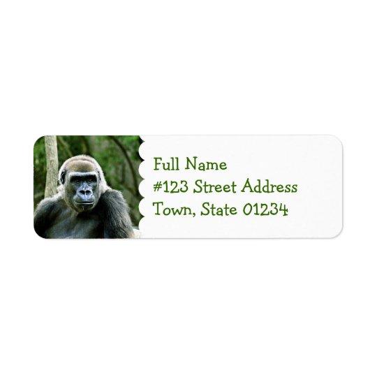 Gorilla-Profil-Rücksendeadresse-Aufkleber Rückversand-Adressaufkleber