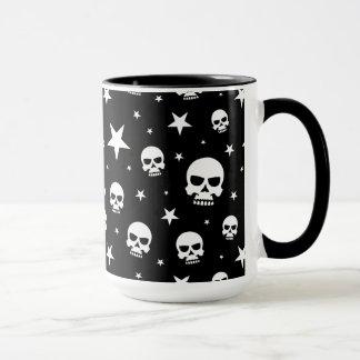 Goth Schädel und Sterne Tasse