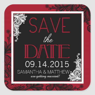 Goth Spitze-Save the Date Aufkleber