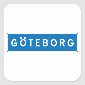 Gothenburg, schwedisches Verkehrsschild Quadratischer Aufkleber