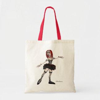 Gotische Ballerina im Schwarzen - Taschen-Tasche Tragetasche