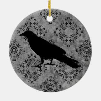 Gotische Rabenkrähe Keramik Ornament