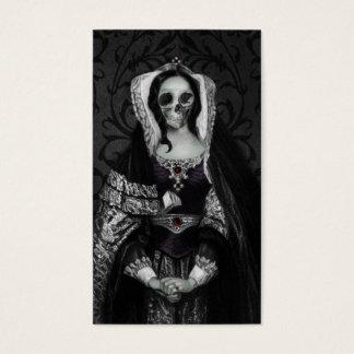 Gotische Schädel-Dame Visitenkarten