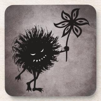 Gotische schlechte Wanze gibt die Vintage Blume Untersetzer