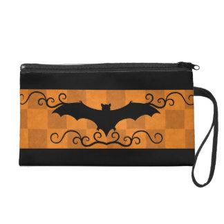 Gotischer eleganter Schläger mit Wirbel Wristlet Handtasche