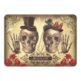 Gotischer Schädel-Tag der Tot-Save the Date Karten 11,4 X 15,9 Cm Einladungskarte