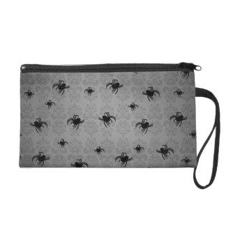 Gotischer Spinnendamast Wristlet Handtasche