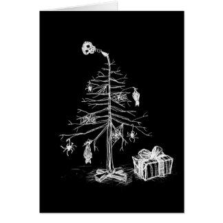 Gotischer Weihnachtsbaum Karte