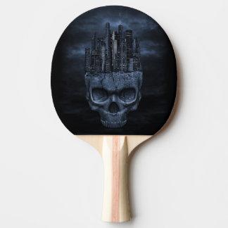 Gotisches Schädel-Stadt-Klingeln Pong Paddel Tischtennis Schläger