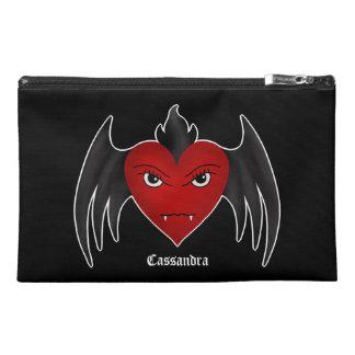 Gotisches winged Vampirsherz Reisekulturtasche