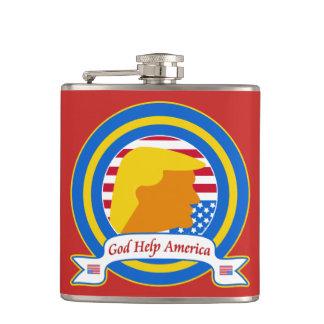 Gott-Hilfe Amerika widerstehen lustigen dem Flachmann