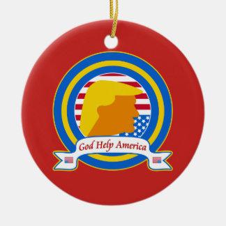 Gott-Hilfe Amerika widerstehen lustigen dem Keramik Ornament