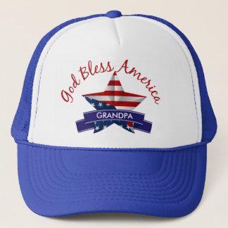 Gott segnen Amerika-Fernlastfahrer-Hut Truckerkappe