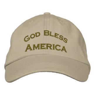 Gott segnen Amerika gestickten patriotischen Hut