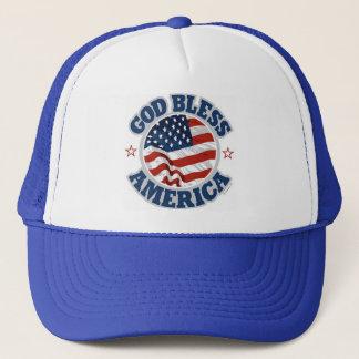 Gott segnen Amerika-Kappe Truckerkappe