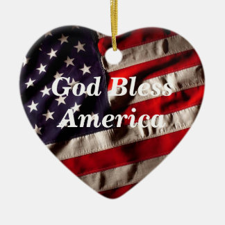 Gott segnen Amerika, Land diese i-Liebe-Flagge Keramik Ornament