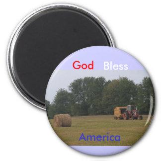 Gott segnen Amerika Kühlschrankmagnet