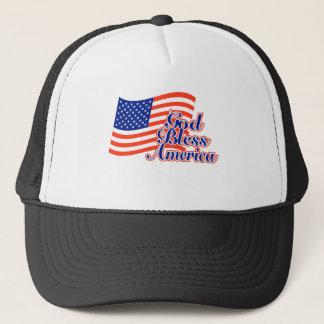 Gott segnen Amerika über Flagge Truckerkappe