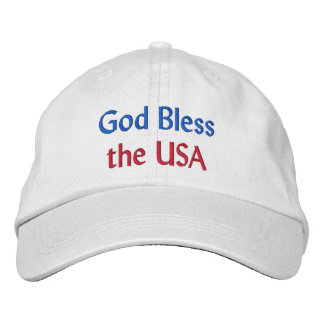 Gott segnen den USA gestickten Hut