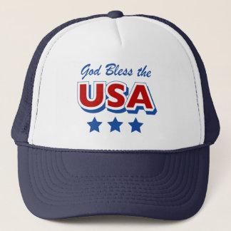 Gott segnen den USA-Hut Truckerkappe