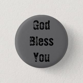 Gott segnen Sie - besonders angefertigt - Runder Button 3,2 Cm