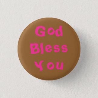 Gott segnen Sie Runder Button 2,5 Cm