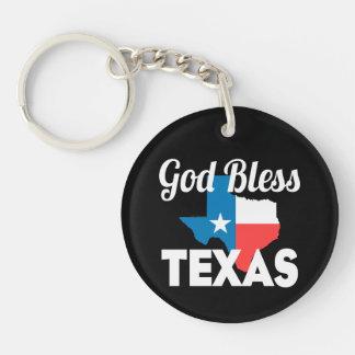Gott segnen Texas Schlüsselanhänger