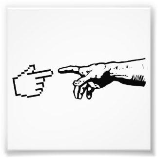 Gott und die Maschinen-Hände Photographien