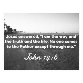 """Gott-Zitate: John-14:6 -- """"Die Weise und die Postkarte"""