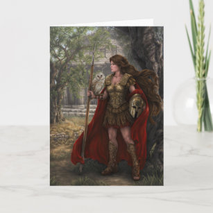 Athene Gottin Karten Zazzle At