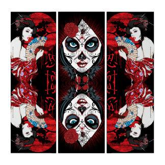 Göttin im Rot Triptychon