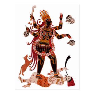 Göttin Kali Postkarte