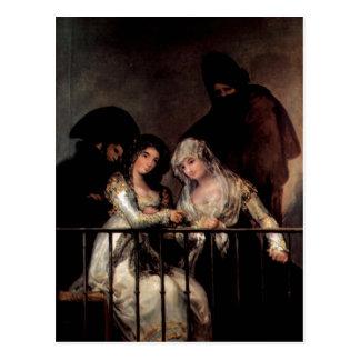 Goya y Lucientes, Francisco de Majas auf einem Postkarte
