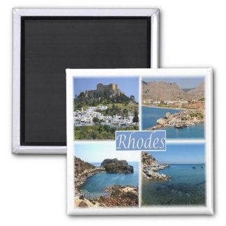 GR * Griechenland - Rhodos Quadratischer Magnet