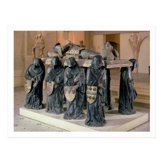 Grab von Philippe-Topf (1428-94) von Citeaux Postkarte