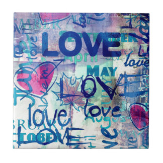 Graffiti-Liebe Fliese