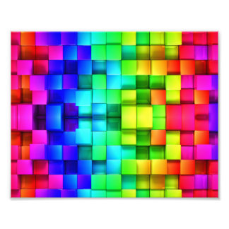 Grafik-Hintergrund des Block-Regenbogen-3d Kunst Fotos
