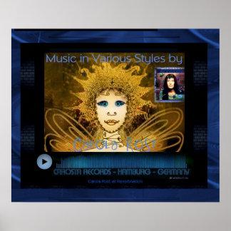 Grafische Kunst-Plakat - Musik-Spieler Carola Rost Poster