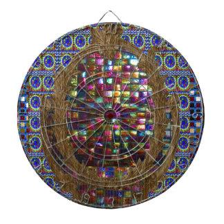 Grafische Malerei-Kristallstein-Fliesen Dartscheibe