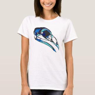 Grafischer Raben-Schädel: coole Farben T-Shirt