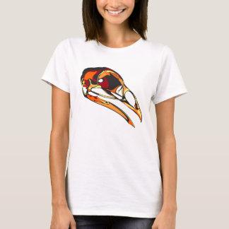 Grafischer Raben-Schädel: warme Farben T-Shirt