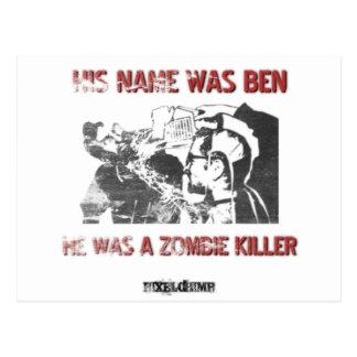 Grafischer Schablonen-Zombie-Mörder Postkarte