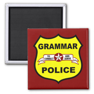 Grammatik-Polizei quadriert Magneten Quadratischer Magnet
