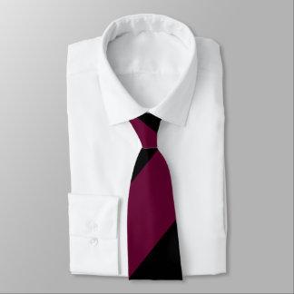 Granat und Schwarz-breiter Regimentsstreifen Personalisierte Krawatten